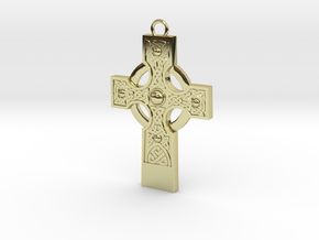 celtic cross 2 in 18K Gold Plated