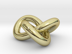 Trefoil Knot 1inch in 18K Gold Plated