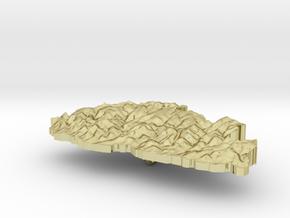 Bhutan Terrain Silver Pendant in 18K Gold Plated