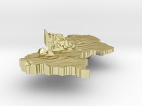 Guyana Terrain Silver Pendant in 18K Gold Plated