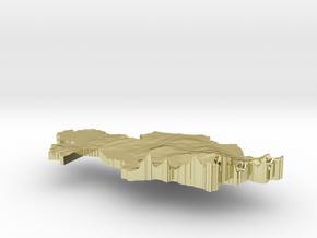 Kazakhstan Terrain Silver Pendant in 18K Gold Plated