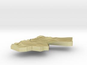 Jordan Terrain Silver Pendant in 18K Gold Plated