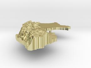 Peru Terrain Silver Pendant in 18K Gold Plated