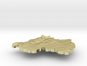 Rwanda Terrain Silver Pendant in 18K Gold Plated