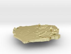 Sierra Leone Terrain Silver Pendant in 18K Gold Plated