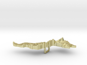 Malaysia Terrain Silver Pendant in 18K Gold Plated