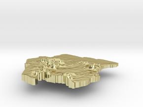 Suriname Terrain Silver Pendant in 18K Gold Plated