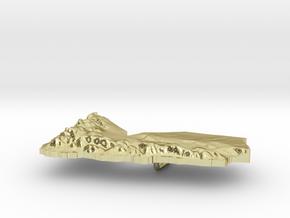 Yemen Terrain Silver Pendant in 18K Gold Plated