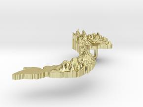 Viet Nam Terrain Silver Pendant in 18K Gold Plated