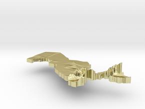 Uzbekistan Terrain Silver Pendant in 18K Gold Plated