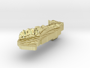 Togo Terrain Silver Pendant in 18K Gold Plated