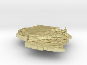 Tanzania Terrain Silver Pendant in 18K Gold Plated