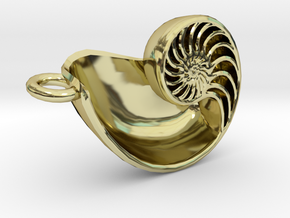 Nautilus Pendant (Small) in 18K Gold Plated