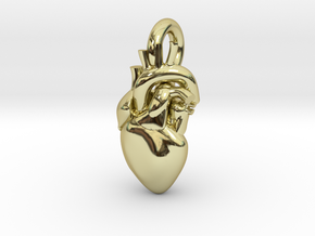 Beautiful Human Heart Pendant in 18K Gold Plated