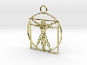 vitruvian man 5cm in 18K Gold Plated