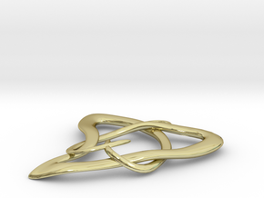 natural heart  in 18K Gold Plated