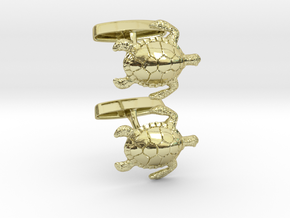 Turtle Cufflinks in 18K Gold Plated