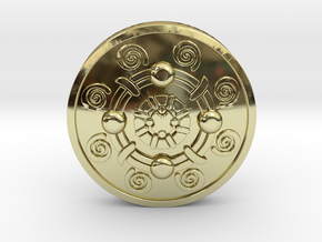 Iron Banded Shield in 18K Gold Plated