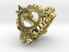Steampunk Gear d4 in 18K Gold Plated