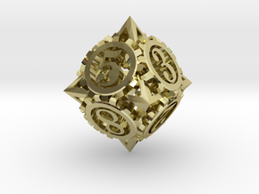 Steampunk Gear d8 in 18K Gold Plated