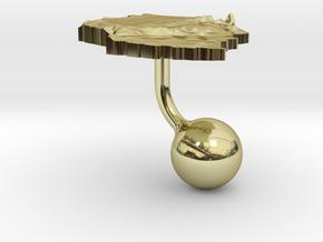 Tanzania Terrain Cufflink - Ball in 18K Gold Plated