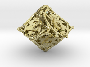 Botanical Die10 (Oak) in 18K Gold Plated