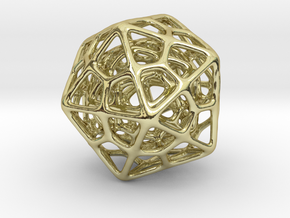 Double Icosahedron Silver in 18K Gold Plated