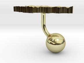 Kyrgyzstan Terrain Cufflink - Ball in 18K Gold Plated