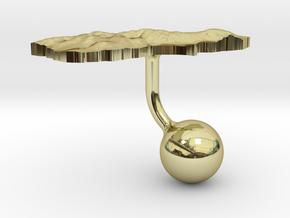 New Zealand South Island Terrain Cufflink - Ball in 18K Gold Plated