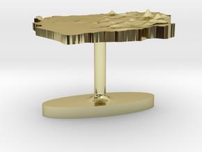 Sierra Leone Terrain Cufflink - Flat in 18K Gold Plated