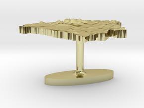 Belarus Terrain Cufflink - Flat in 18K Gold Plated