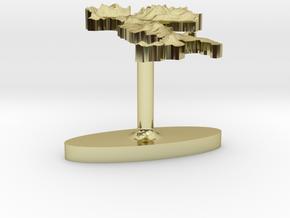 Italy Terrain Cufflink - Flat in 18K Gold Plated