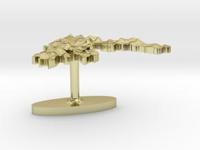 Greece Terrain Cufflink - Flat in 18K Gold Plated