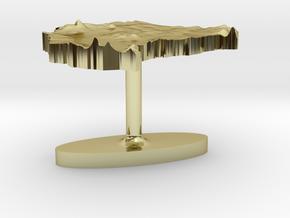 Sudan Terrain Cufflink - Flat in 18K Gold Plated