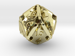 Stretcher d20 in 18K Gold Plated