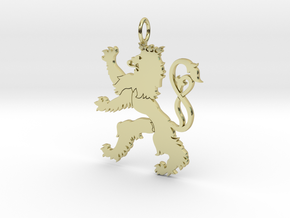 Roude Leiw Detailed pendant no frame in 18K Gold Plated