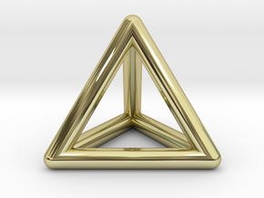 Tetrahedron in 18K Gold Plated