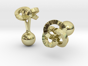 Trefoil Cufflinks in 18K Gold Plated