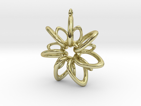 RingStar 7 points - 5cm, Loopet in 18K Gold Plated