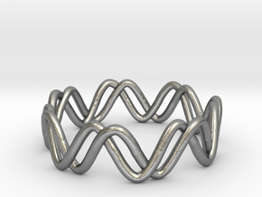 Sine + Cosine Ring (Size 7) in Natural Silver