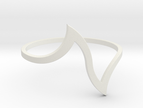 Ring Model D - Size 6 - Gold in White Natural Versatile Plastic
