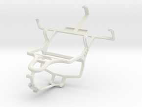 Controller mount for PS4 & Samsung Galaxy Star S52 in White Natural Versatile Plastic