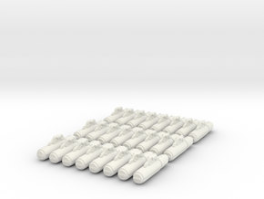 Armaments: VF Reaction Missiles 6 Pack in White Natural Versatile Plastic