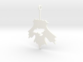 Firefly Leaf on the Wind Pendant in White Processed Versatile Plastic