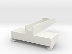 JRRCD Post Driver Quick-Tach 1/64 S Scale in White Natural Versatile Plastic