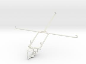 Controller mount for PS3 & Samsung Google Nexus 10 in White Natural Versatile Plastic