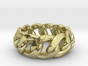 Chained Ring of Honor in 18K Gold Plated