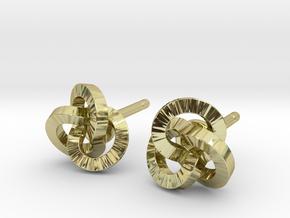 Trefoil Earrings in 18K Gold Plated