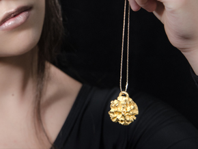 EUNICE Pendant in Polished Gold Steel