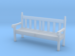 1:32 Scale Hyde Park Bench in Smooth Fine Detail Plastic